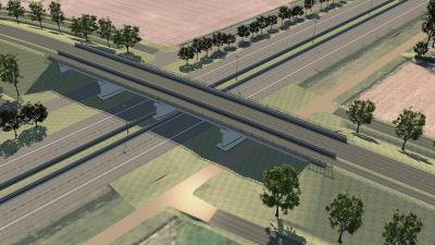Kraaigemstraat en Stroomstraat deels afgesloten voor aanleg brug over E34 - Stroomstraat