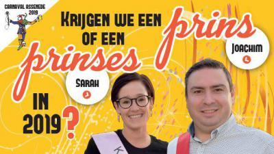 Krijgt Assenede een Prins of een Prinses Carnaval 2019? - Affiche Prinsenverkiezing