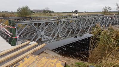 Nieuwe Oosterputbrug in Boekhoute -