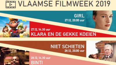 Vlaamse filmweek tijdens de kerstvakantie -