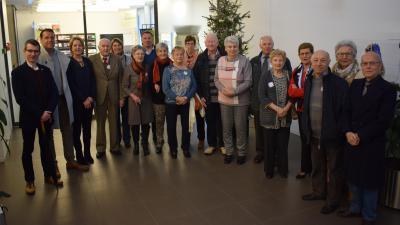 Boekhoutse 80-jarigen ontvangen op gemeentehuis - De Boekhoutse 80-jarigen