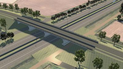 Nieuwe brug over E34 aan Stroomstraat in Assenede. - Stroomstraat