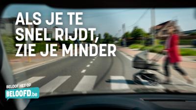 Als je te snel rijdt, zie je minder -